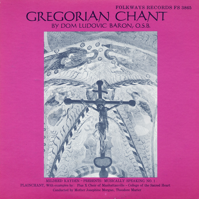 gregorian chant album cover